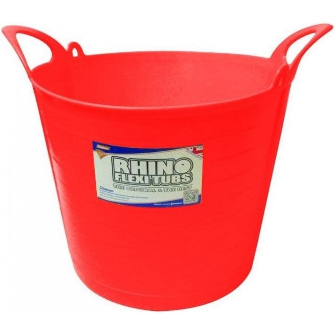 26L Rhino Flexi Tub Red