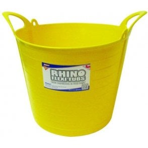 26L Rhino Flexi Tub Yellow