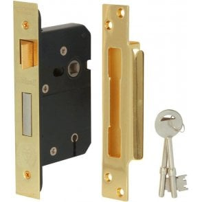 5 Lever Reversible Sash Lock (76mm - Brass Finish)