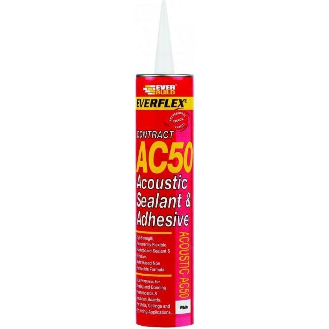 AC50 Acoustic Sealant & Adhesive White 400ml
