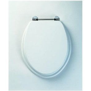Axis 8065m Toilet Seat White Chrome Hinge