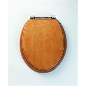 Axis Toilet Seat Antique Pine Chrome Hinge 8065A