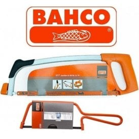 "Bahco Twin Pack 317 Pro 12"" 300mm Hacksaw & 239 Junior Mini 6"" 150mm Metal Saw"