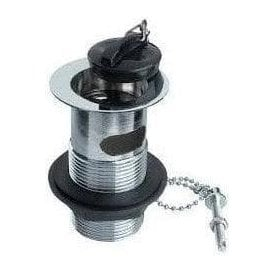 "Basin Waste Poly Plug 1 1/4"" with Chain & Stay 201289"
