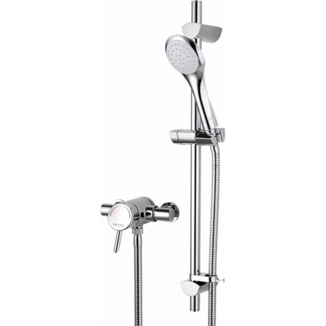 Bristan Acute Thermostatic Surface Mounted Shower Valve with Adjustable Riser AE SHXAR C