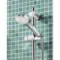 Bristan Sonique Thermostatic Surface Mounted Shower Mini Valve complete with Adjustable Riser Kit (SOQ2 SHXAR C)