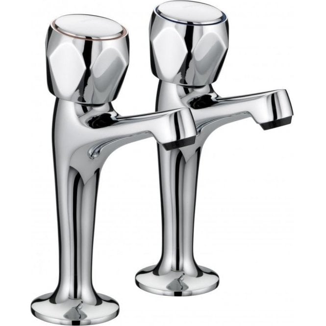 Bristan Value Club High Neck Pillar Taps VAC HNK C MT