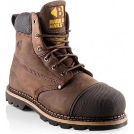 Buckler Steel Toe and Midsole Chocolate Oil Lace Work Boots B301SM