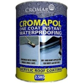 Cromar Cromapol Acrylic Roof Coating Black 2.5Kg