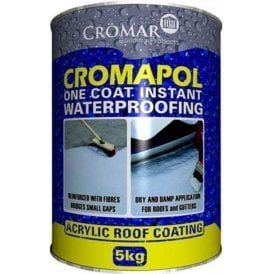 Cromar Cromapol Acrylic Roof Coating White 5Kg