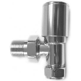 Decorative Angled Radiator Valve (Pair) Chrome 15mm