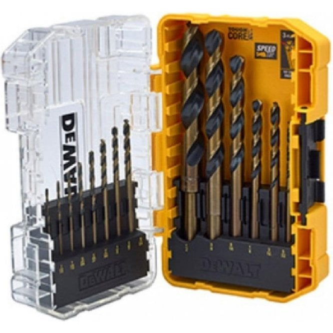 Dewalt 14 Piece Black & Gold HSS Drill Bit Set XMS19DGOLD14