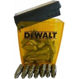 DeWalt Pozi 2 Drill Bits (Flip Box of 25) 25mm DT7908QZ