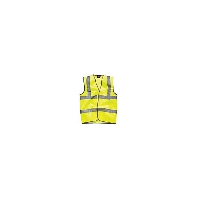 Dickies Highway Safety Waistcoat EN471 Class 2 SA22010 Saturn Yellow