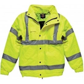 Dickies SA22050 High Visibility Bomber Jacket Class 3 Saturn Yellow