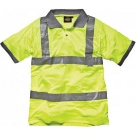 Dickies SA22075 High Visibility Polo Shirt Saturn Yellow