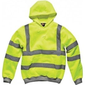 Dickies SA22090 High Visibility Safety Hooded Sweatshirt Saturn Yellow