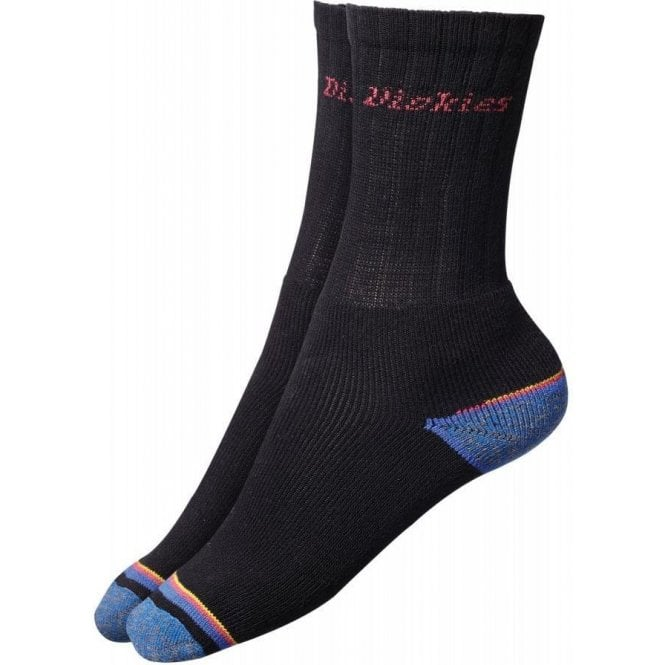 Dickies Strong Work Sock Black (Pack of 3 pairs) Size 41-45 (7-11)