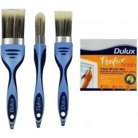 DULUX Perfect Finish Edge Brushes Triple Brush Set - 6033332