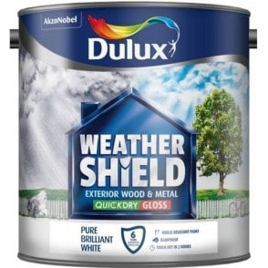 Dulux Weathershield Quick Dry Gloss Pure Brilliant White