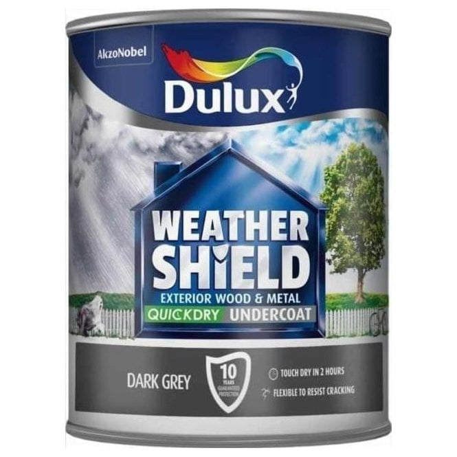 Dulux Weathershield Quick Dry Undercoat Dark Grey - 750ml 5092084