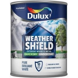 Dulux Weathershield Quick Dry Undercoat Pure Brilliant White