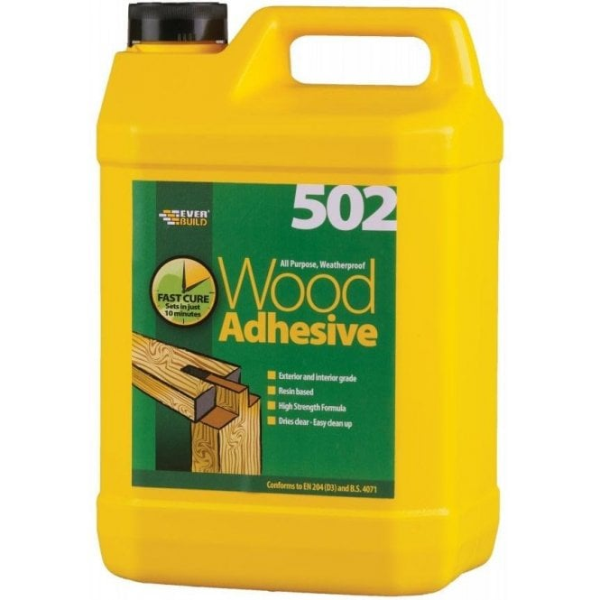 Everbuild 502 Weather-Proof Wood Adhesive 5L