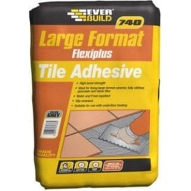 Everbuild 740 Large Format Flexiplus Tile Adhesive Grey 25kg