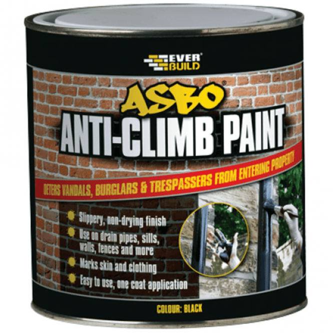 Everbuild ASBO Anti Climb Paint Black 1 Ltr