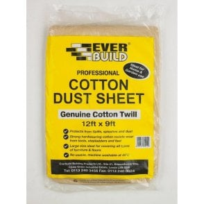 Everbuild Cotton Dust Sheet 12'X9'