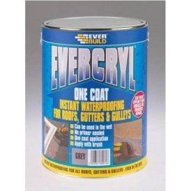 Everbuild Evercryl One Coat Black 5Kg