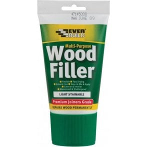 Everbuild Multi Purpose Premium Joiners Grade Wood Filler (Easi Squeeze) 100ml Light