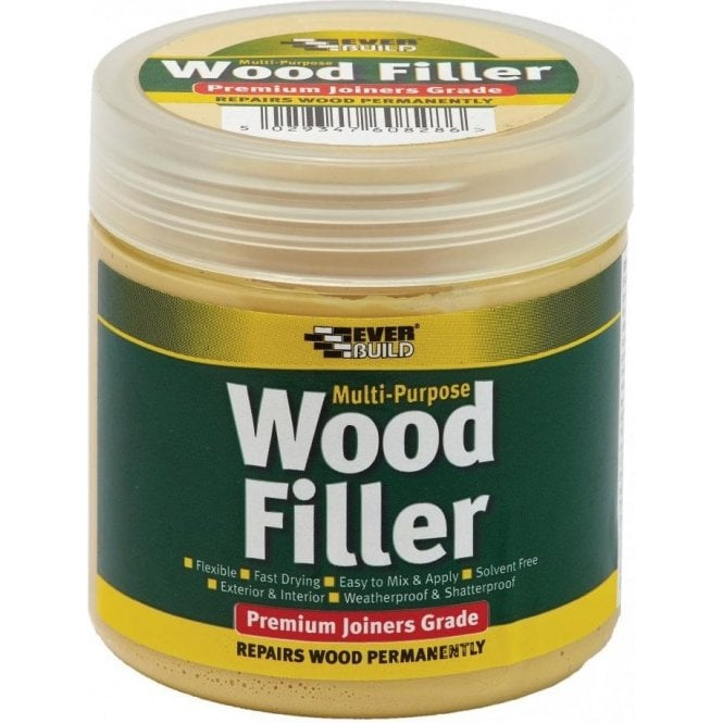Everbuild Multi Purpose Premium Joiners Grade Wood Filler Light Oak 250ml