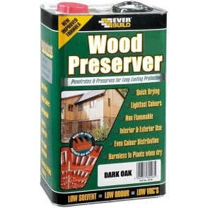 Everbuild Wood Preserver Dark Oak 5L