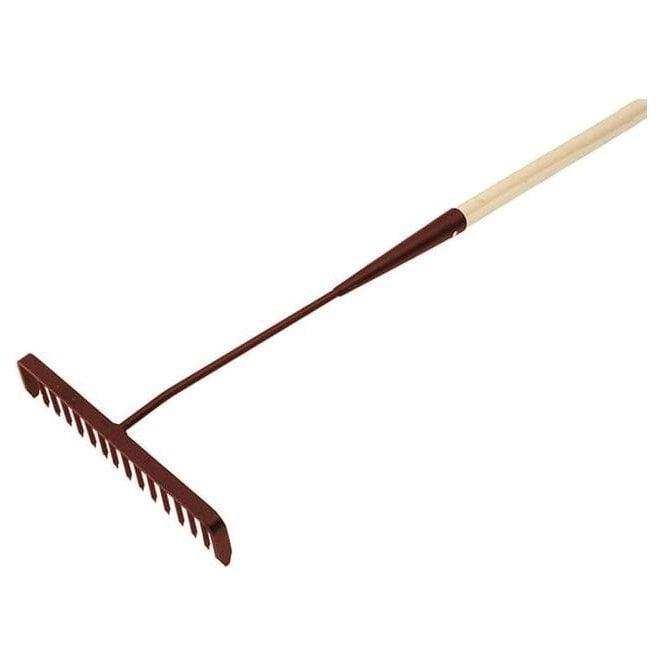 Faithfull Tarmac Rake Wooden Shaft 170cm x 16 Teeth