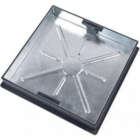 Galvanised Recessed Block Paving Tray Square to Round 450x450x80mm 10 Tonne Gross Plated Weight