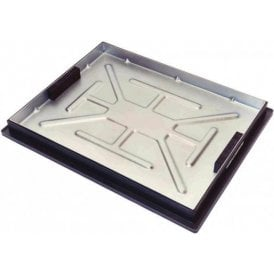 Galvanised Sealed & Locking Recessed Manhole Cover & Frame 600x450mm 5 Tonne Gross Plated Weight