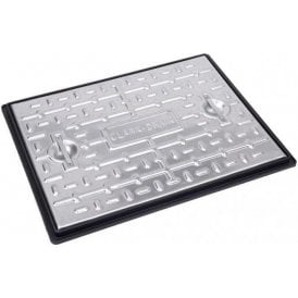 Galvanised Single Seal Manhole Cover & Frame 600x450mm 5 Tonne Gross Plated Weight