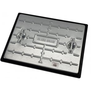 Galvanised Single Seal Manhole Cover & Frame 600x450mm Pedestrian