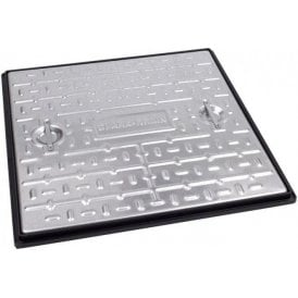Galvanised Single Seal Manhole Cover & Frame 600x600mm Pedestrian