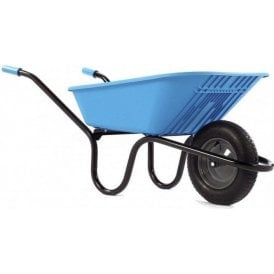 Haemmerlin 5000 GO Polypropylene Wheelbarrow with Pneumatic Tyre Blue 90L