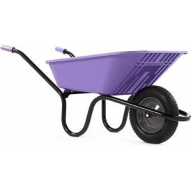 Haemmerlin 5000 GO Polypropylene Wheelbarrow with Pneumatic Tyre Lilac 90L
