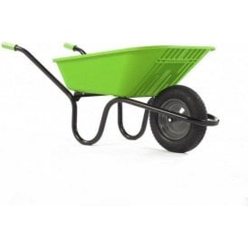 Haemmerlin 5000 GO Polypropylene Wheelbarrow with Pneumatic Tyre Lime Green 90L