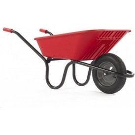 Haemmerlin 5000 GO Polypropylene Wheelbarrow with Pneumatic Tyre Red 90L