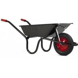 Haemmerlin 9004 Camden Classic Wheelbarrow with Pneumatic Tyre Black 85L