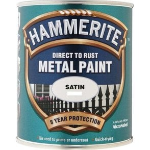 Hammerite Metal Paint 2.5Litre - Satin - Black