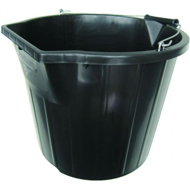 Heavy Duty Contractor Pour and Scoop Bucket Black 3 Gallon