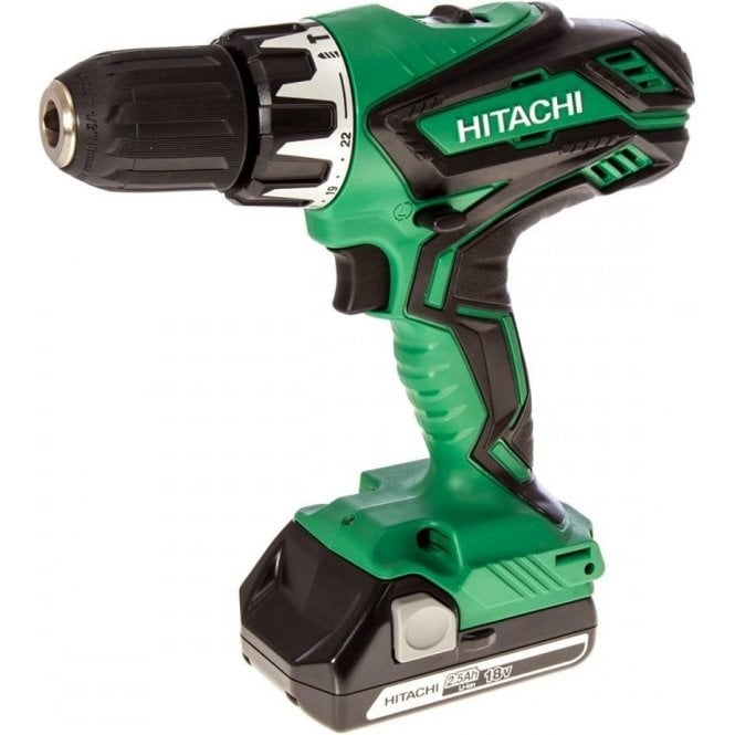 Hitachi DV18DGL 18v Li-Ion Combi Drill Includes 2 x 2.5Ah Li-Ion Batteries and Charger