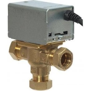 Honeywell V4073 3 Port Mid Position Valve 22mm