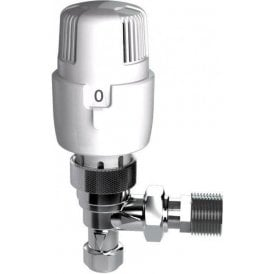Inta i-therm Angled TRV White/Chrome 15mm